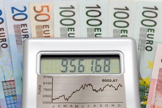 Capital income, stock price : Stock Photo