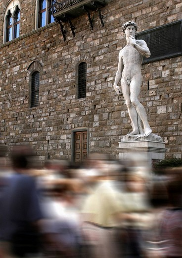 Stock Photo: 1848-109974 Sculpture of David in Florence, Tuscany, Italy