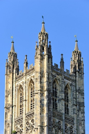 Stock Photo: 1848-110983 The bell tower of Canterbury Cathedral, Kent, England, UK, Europe