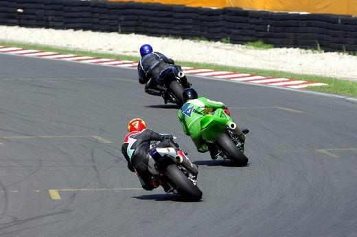 Motorcycle race, Salzburgring Salzburg Racetrack, Salzburg, Austria : Stock Photo