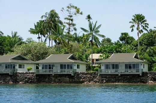 Holiday settlement of a hotel resort, Madang, Papua New Guinea, Melanesia : Stock Photo