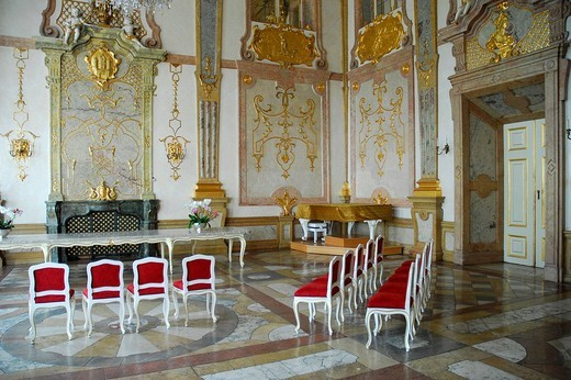 Marmorsaal marble hall, Schloss Mirabell Palace, Neustadt district, Salzburg, Salzburger Land state, Austria, Europe : Stock Photo