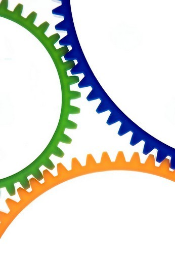 Colored cogwheels : Stock Photo
