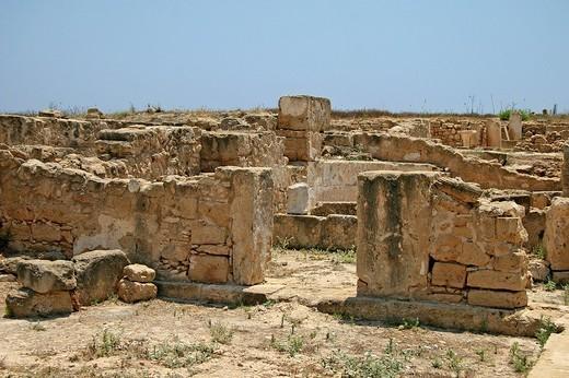 Archaeology, Roman ruins, Paphos, Cyprus : Stock Photo