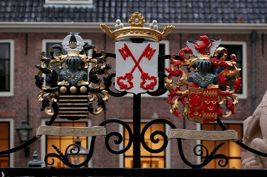 Stock Photo: 1848-113480 Coat of arms in Leiden, Netherlands
