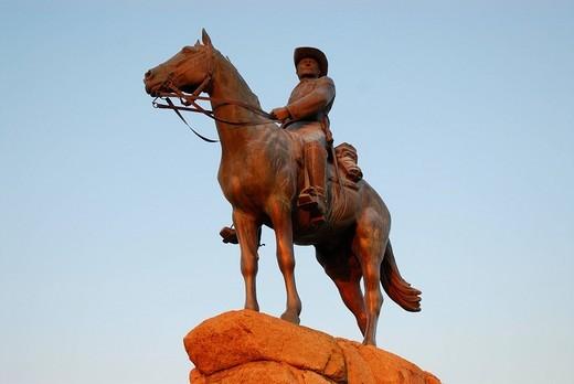 Reiterdenkmal horseman memorial, Windhuk, Namibia : Stock Photo