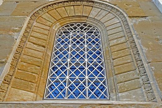 Church window, Allerheiligen Hofkirche courtyard church at the Residenz palace in Munich, Bavaria, Germany, Europe : Stock Photo