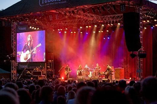 Stage concert, every Friday in Tivoli, Copenhagen, Denmark : Stock Photo
