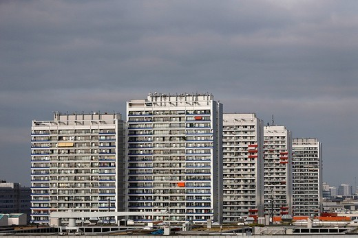 High_rise buildings in the Leipziger Street in Berlin, Germany, Europe : Stock Photo