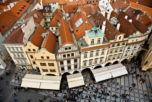 Stock Photo: 1848-115638 Housesin the old Town Square Prague Czechia