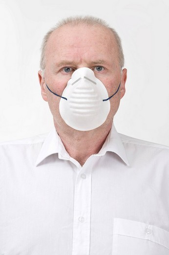 Stock Photo: 1848-116825 Man with a mask