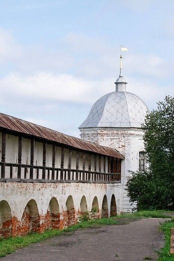 Monastery wall, Goritsky monastery, Pereslavl_Zalessky, Russia : Stock Photo