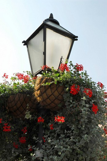 Street lantern, historic city centre of Zagreb, Croatia, Europe : Stock Photo