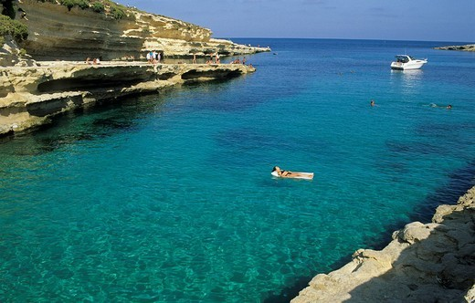 Stock Photo: 1848-117761 St Peters Pool, Delimara Peninsula, Malta