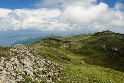 Karst Plateau in the Galicica National Park on Lake Ohrid, UNESCO World Heritage Site, Macedonia, FYROM, Former Yugoslav Republic of Macedonia, Europe : Stock Photo