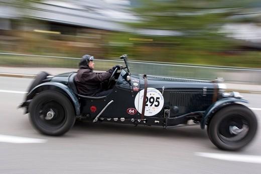 Vintage car, Jochpass Memorial 2007, Bad Hindelang, Bavaria, Germany : Stock Photo