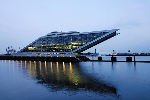 Stock Photo: 1848-11983 Dockland office building, Hamburg Harbour, Germany