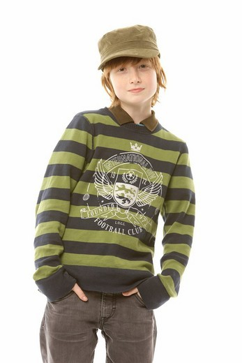 Stock Photo: 1848-120032 12_year_old boy wearing a cap