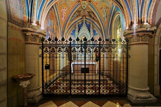 Side altar in the Collegiate Church in Klosterneuburg, Lower Austria, Austria, Europe : Stock Photo