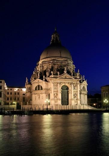 Basilica di Santa Maria della Salute at Canal Grande, Venice, Italy Venice, Veneto, Italy : Stock Photo