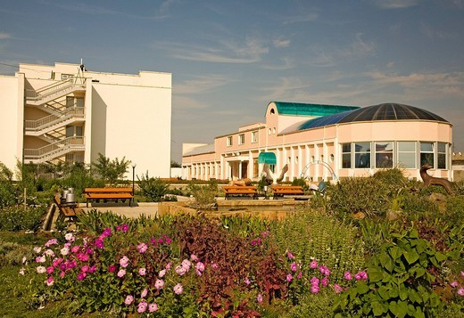 Saki, Hotel and Sanatorium Yurmino, Crimea, Ukraine, South_Easteurope, Europe, : Stock Photo