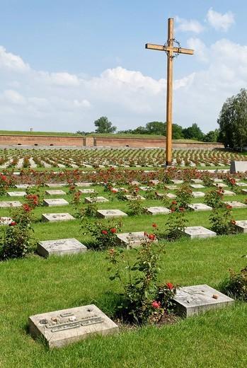 Stock Photo: 1848-121239 Memorial cemetery, Gestapo prison Small Fortress Theresienstadt, Terezin, north Bohemia, Czech Republic