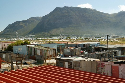Stock Photo: 1848-12157 Township in Cape Town, South Africa