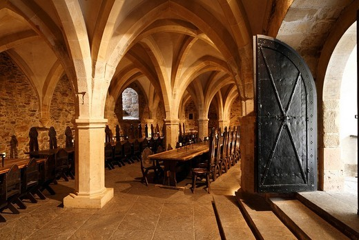 Knight´s Hall at Lockenhaus Castle, Burgenland, Austria, Europe : Stock Photo