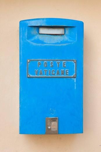 Vatican mailbox Poste Vaticane, Rome, Italy, Europe : Stock Photo