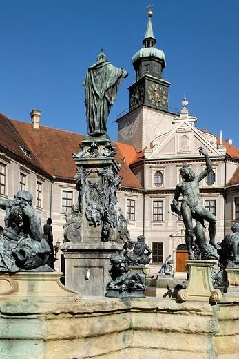 Brunnenhof in the Residenz, Munich, Bavaria, Germany : Stock Photo