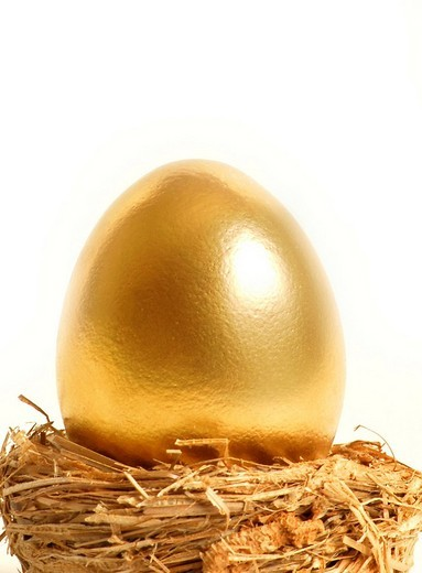 Golden egg : Stock Photo