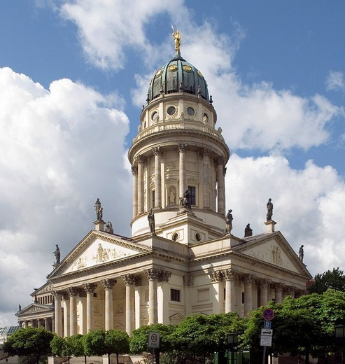 Deutscher Cathedral, German Cathedral, Gendarmenmarkt, Berlin, Germany, Europe : Stock Photo