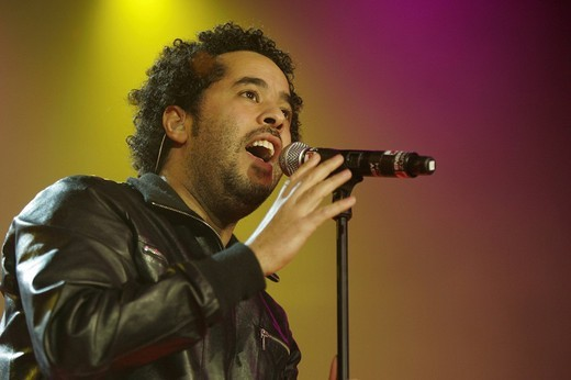 Adel Tawil, singer und frontman of the German music project ICH + ICH, performing live at Energy Stars For Free at Hallenstadion Zurich, Switzerland : Stock Photo