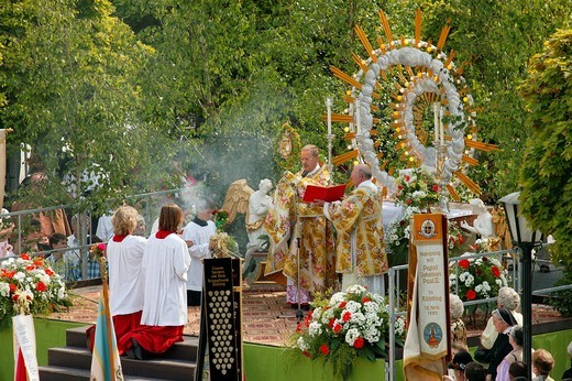 Corpus Christi procession : Stock Photo