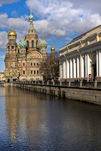 The Church of the Savior on Spilled Blood or Cathedral of the Resurrection of Christ, St. Petersburg, Russia : Stock Photo