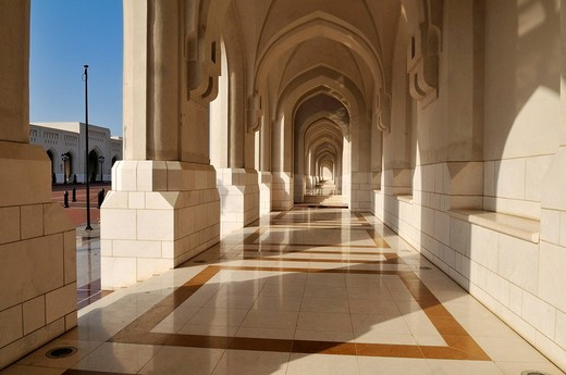 Al Alam Palace of Sultan Qaboos, Muscat, Sultanate of Oman, Arabia, Middle East : Stock Photo