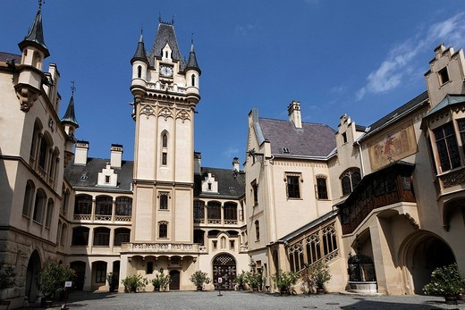 Castle Grafenegg, Grafenegg near Krems, Lower Austria, Austria : Stock Photo