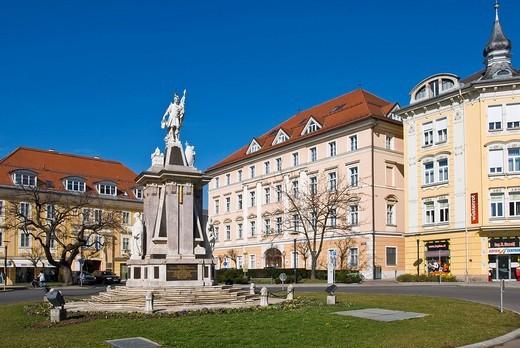 Floriani Monument, Klagenfurt, Carinthia, Austria : Stock Photo