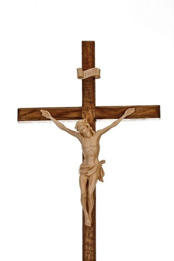 Wooden crucifix : Stock Photo
