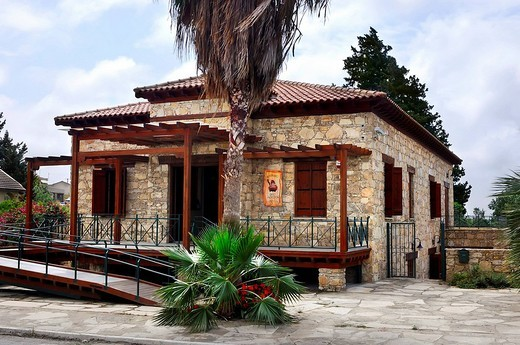 Cyprus Wine Museum building, Limassol area, Cyprus : Stock Photo