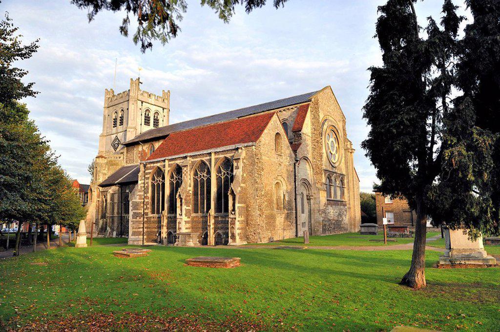 Waltham Abbey Church in Essex, United Kingdom, Europe : Stock Photo