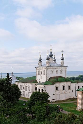 Stock Photo: 1848-128918 Russian Orthodox church, Goritsky monastery, Pereslavl_Zalessky, Russia