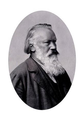 Stock Photo: 1848-130620 Historic portrait, Johannes Brahms