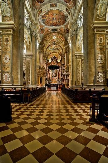 Stock Photo: 1848-132417 Baroque altar in the Collegiate Church in Klosterneuburg, Lower Austria, Austria, Europe