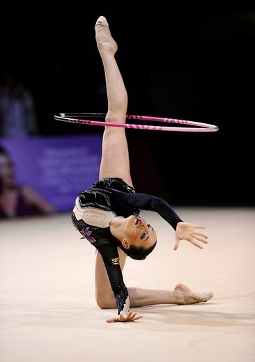 Stock Photo: 1848-13247 Monika MINCHEVA, Bulgaria, Grand Prix of Rhythmic Gymnastics, Paris, France, Europe