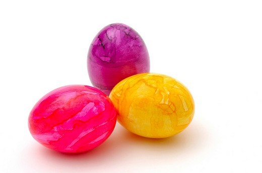 Stock Photo: 1848-132692 Dyed Easter eggs