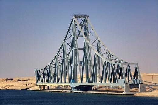 El_Ferdan bridge at Ismailia, Suez, Egypt, Northern Africa, Africa : Stock Photo
