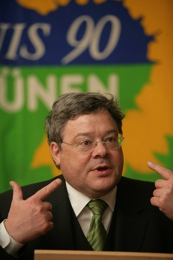 Stock Photo: 1848-133301 Reinhard Buetikofer, Chairman of the Green Party in Germany