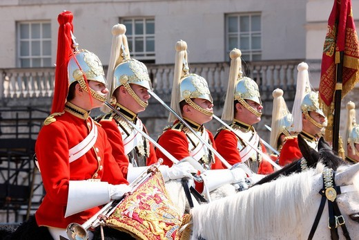 Royal Cavalry, London, England, Great Britain, Europe : Stock Photo