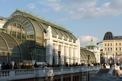 Stock Photo: 1848-134243 Palm house in the Burggarten, Vienna, Austria, Europe